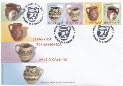 ROMANIA 2007 LP 1788  CERAMICA ROMANEASCA OALE SI CANI II SERIE  FDC foto