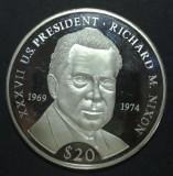 Liberia 20 dollars 2000 UNC Argint, Africa