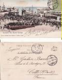 Galati-Sosirea familiei regale in port -Casa Regala,  clasica, rara, Circulata, Printata