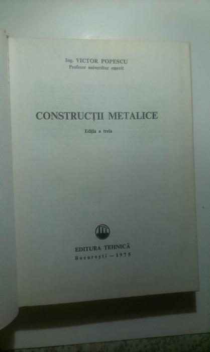 CONSTRUCTII  METALICE