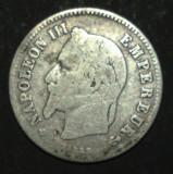 Franta 20 cent 1864 Argint, Europa
