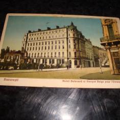 Carte postala - Bucuresti - Hotel Bulevard - 1927