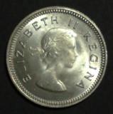 Africa 3 pence 1959 UNC Argint