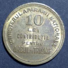A4430 Jeton 10 lei contributie pentru Arcul de Triumf UNC