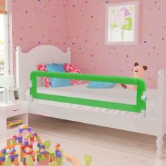 Barieră de protecție pentru pat copii mici 150 x 42 cm, verde
