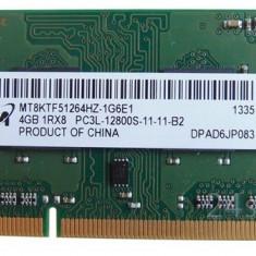 Memorie Laptop Micron 4GB DDR3 PC3L-12800S 1600Mhz 1.35V