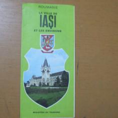 Iasi si imprejurimile harta color ONT Carpati la ville et les environs Roumanie