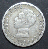 Spania 50 cent 1904 Argint, Europa