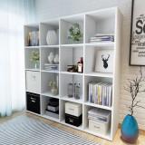 Raft pentru cărți, 138,5 x 29 x 142,5 cm, alb