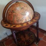 Bar lemn tip glob pamantesc, superb, stare exceptionala