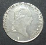 Austria 3 kreuzer 1821 B XF+ Argint, Europa