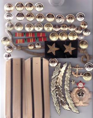 Lot  efecte  militare   ofiter  marina    URSS  - Rusia  (   5   ) foto