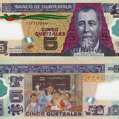 GUATEMALA 5 quetzales 2013 polymer UNC!!!