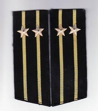 Epoleti      ofiter  marina ( capitan rangul  2 )  URSS unifirma de iarna
