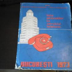 Lista abonatilor la serviciul telefonic -Carte telefoane,Bucuresti 1973, 1280 p