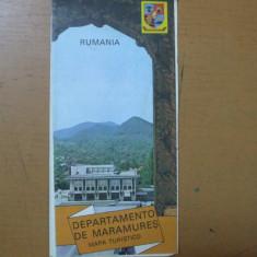 Maramures harta color turistica Rumania departamento mapa turistico