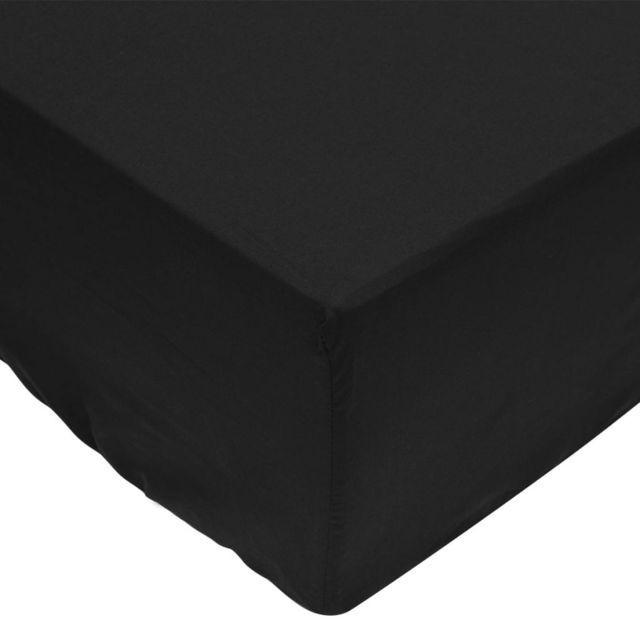 Cear?afuri pliabile din bumbac, 160 x 200 cm, negru, 2 buc.