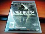 Joc Call of Duty 4 Modern warfare, PS3, original, alte sute de jocuri!, Shooting, 18+, Single player, Activision