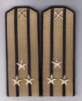 Epoleti    de  parada   ofiter  marina ( capitan rangul  1 )  URSS