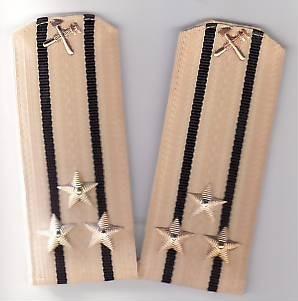 Epoleti      ofiter  marina ( capitan rangul  1  )  URSS unifirma de  vara