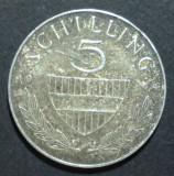 Austria 5 schilling 1964 Argint, Europa