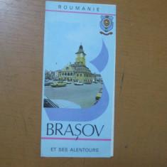 Brasov si imprejurimile et ses alentours harta color ONT Carpati  Roumanie