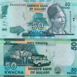 MALAWI 50 kwacha 2017 UNC!!!