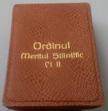 Ordinul MERITUL STIINTIFIC clasa a 2a - Cutie - RARA - 1966 - Ceausescu