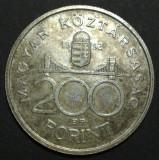 Ungaria 200 forint 1992 2 aUNC Argint, Europa