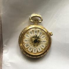 Ceas de buzunar, poseta,mecanic cu sonerie, MENTHOR, 17 jewels