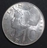 Austria 10 schilling 1966 Argint, Europa