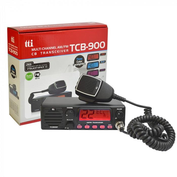 Resigilat : Statie radio CB TTi TCB-900 alimentare 12-24V cu difuzor frontal