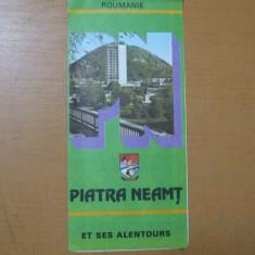 Piatra Neamt si imprejurimile et ses alentours harta color ONT Carpati  Roumanie
