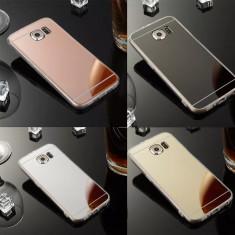 Husa silicon cu spate oglinda Samsung S6 Edge / S6 Edge Plus / S7 Edge