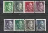 OCUPATIA GERMANA IN POLONIA 1941/42 – ADOLF HITLER, serii deparaiate, L56, Stampilat