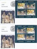ROMANIA 2009 LP1832 b EUROPA 2009 - ASTRONOMIE  PERECHE  BLOCURI   2  SERII FDC, Stampilat