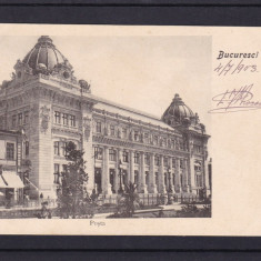 BUCURESTI  PALATUL POSTELOR  POSTA  FARMACIA  FARMACIE CLASICA  CIRCULATA 1903, Printata