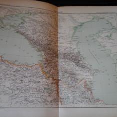 Harta color 37/46 cm - Caucazul 38 - Atlas de Geographie Moderne, Paris,1901