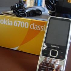 Telefon Nokia 6700 classic original argintiu reconditionat / 6700c cu garantie