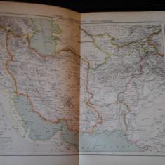 Harta color 37/46 cm - Persia, Afgn 40 - Atlas de Geographie Moderne, Paris,1901