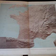 Harta color 37/46 cm - La France 9 -Atlas de Geographie Moderne, Paris, 1901