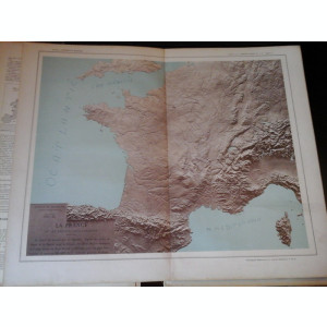 Harta color 37/46 cm - La France 9 -Atlas de Geographie Moderne, Paris, 1901