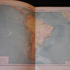Harta color 37/46 cm - America Sud 61 - Atlas de Geographie Moderne, Paris, 1901