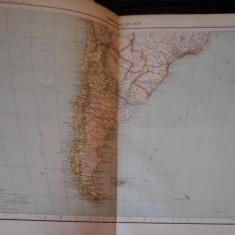 Harta color 37/46 cm - America Sud (S) 64 - Atlas de Geogr. Moderne, Paris, 1901