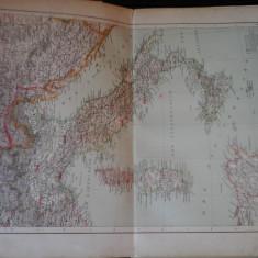 Harta color 37/46 cm - Italie 24 - Atlas de Geographie Moderne, Paris, 1901