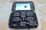 Set 6 Avertizori Senzori cu Statie Eastshark 6+1 Black Edition RF Suporta Senzor, Electronice