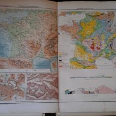Harta color 37/46 cm - France 11 - Atlas de Geographie Moderne, Paris, 1901