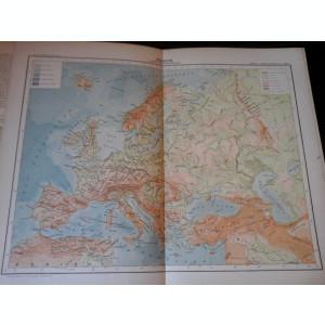 Harta color 37/46 cm - Europe 7 -Atlas de Geographie Moderne, Paris, 1901