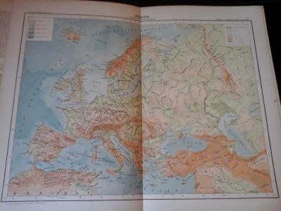 Harta color 37/46 cm - Europe 7 -Atlas de Geographie Moderne, Paris, 1901 foto