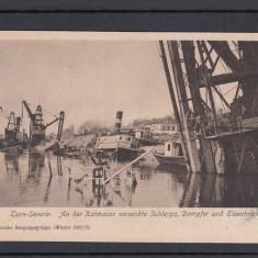 TURNU SEVERIN  1916/17  BOMDARDAREA PORTULUI  DE ARMATA GERMANA FELD - POSTKARTE, Necirculata, Printata